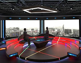 Virtual TV Studio Chat Set 2 3D