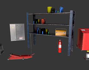 3D asset Garage Props 01