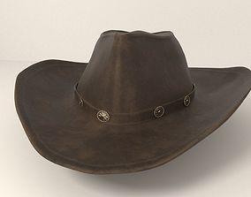 bucket 3D model Fedora cowboy hat