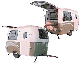 3D model Travel trailer Happier Camper HC1