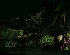 Jurassic Showroom Tropical Rainforest 3D rigged