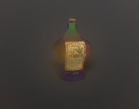 3D asset game-ready Potion Bottle 01