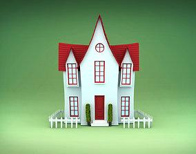Cartoon House 3D bulding