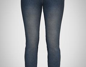 Skinny jeans Marvelous Designer CLO 3D model