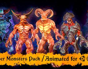 3D model Super Monster pack