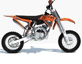 3D model Orange KTM Motocross Bike