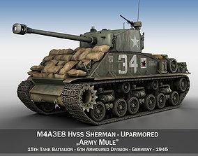 easy8 3D M4A3E8 HVSS Sherman - Army Mule