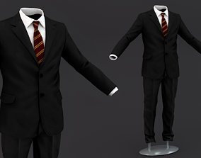 Suit men 3D Model Clothing