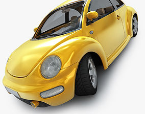 New Beetle VW with Interior 3D model