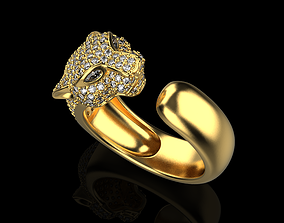 3D print model panter ring
