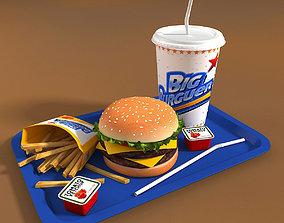 Burger Set 3D model