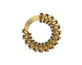 Women earrings flower with gems 3dm stl CAD