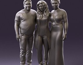 001037 family man and two woman in shirts with 3D Print