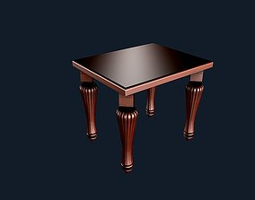 3D Round side coffee table 2