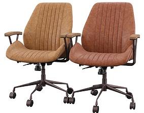 Hamilton Mid-Back Leather Executive Chair 3D model