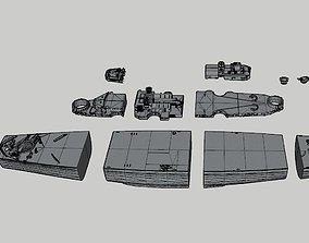 3D printable model The sunk german battleship Bismarck