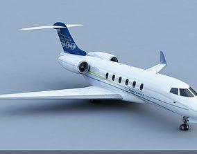 3D Bombardier Challenger 300