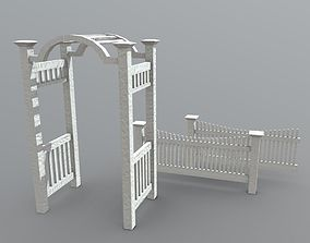3D asset Arbor with Fence