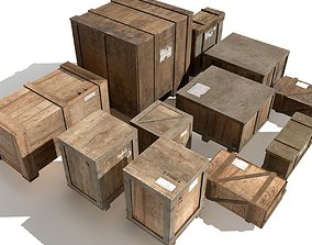 3D asset Transport crates Pack 2 PBR