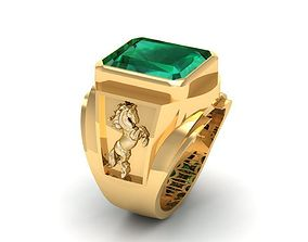778 Zodiac Horse Ring 3D print model zodiac