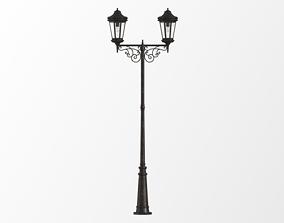 3D Antique lamp post