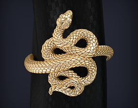 ouroboros Snake Jewelry Ring 3d print model