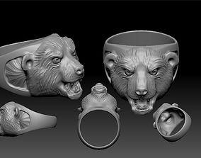Bear Ring for men jewelry 3D print model