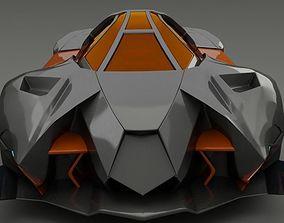Lamborghini Egoista 3D model gallardo