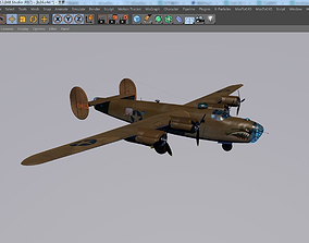Consolidated B-24 Liberator Aircraft 3D asset