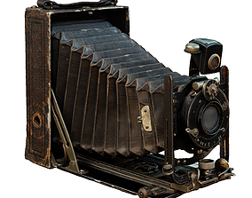 Old Camera CP Goerz Tenax Tenastigmat lens 3D model