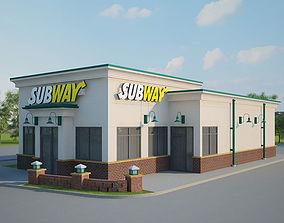 Subway Restaurant 01 3D model