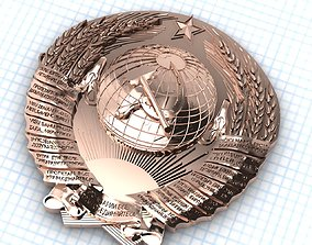 3D print model The state emblem of the USSR scans