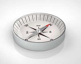 compass 3D model adventure