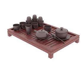 3D Tea Ceremony Set