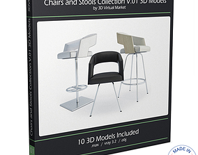 Armchairs and Bar Stools Jolly Collection 3D model