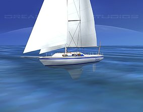 3D model 30 Foot Cutter Rigged Sloop V15