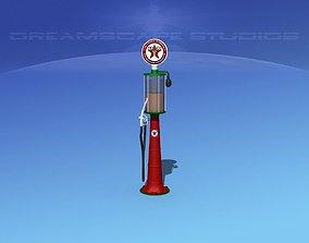 3D 1920s era Texaco Gas Pump