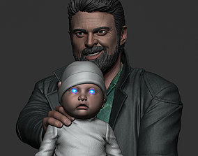 Karl Urban - Butcher and baby 3D print model