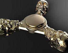 Premium spinner Skull 3-arm 3D print model