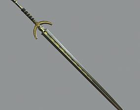Sword Low-poly 3D model VR / AR ready