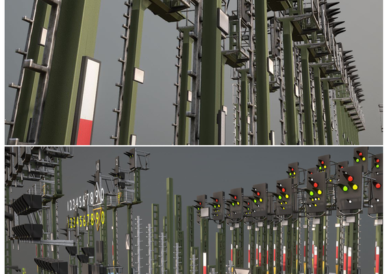 Railway Signals KS-Type Construction-Kit (Low-Poly)