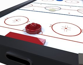 Air Hockey Table 3D model realtime