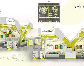 3D Booth EW Nutrition design size 9X8m 72sqm