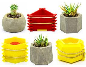 flowepot 8 Concrete Pot Mold by TIXEN 3D printable model
