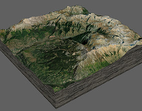 3D model Telluride and mountains