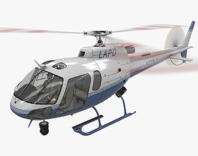 3D model AS-350 LAPD 3 Animated