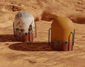 VR / AR ready Mars module and landscape 3D models