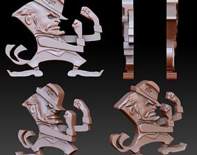 3D printable model Angry leprechaun pendant