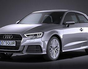 Audi A3 2017 3-door 3D