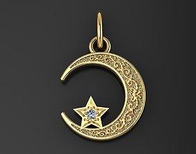 Islamic Moon Pendant 3D printable model